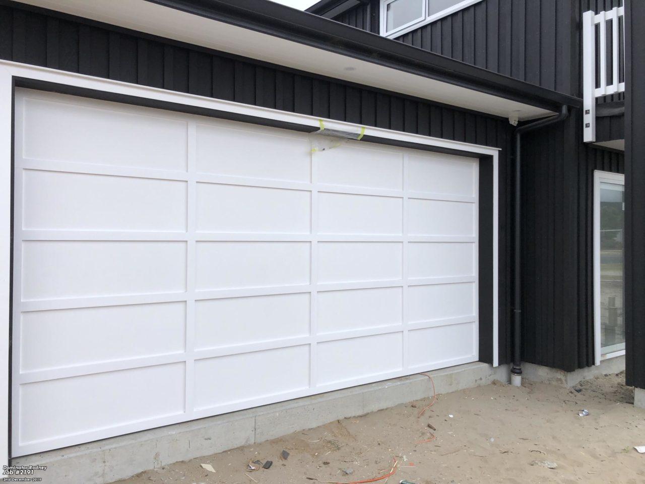 Painted Plywood and Batten Sectional Garage Door